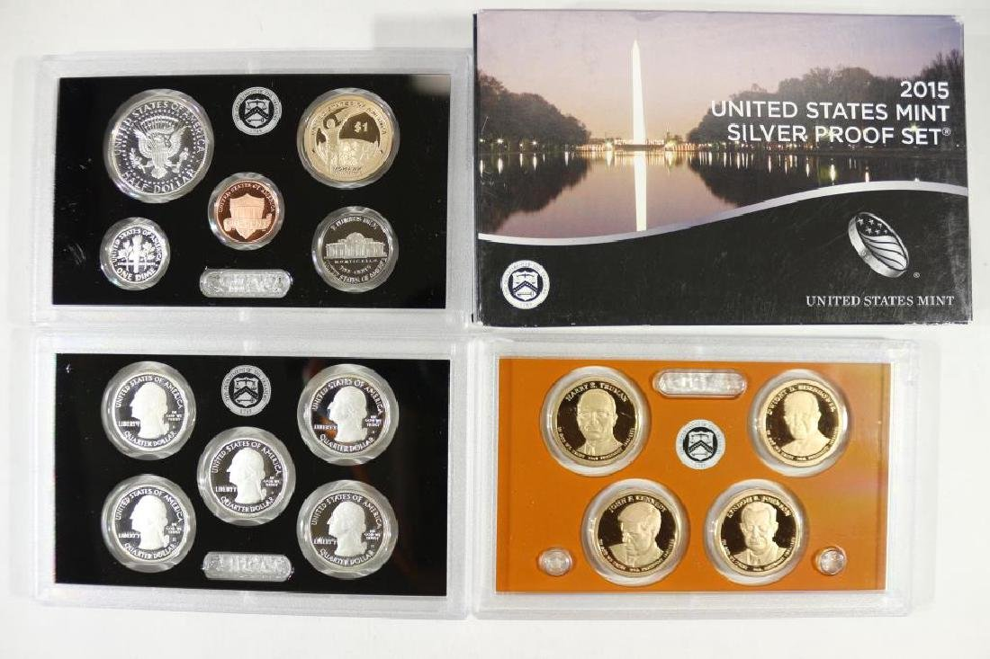 2015 US SILVER PROOF SET (WITH BOX) 14 PIECES - 2