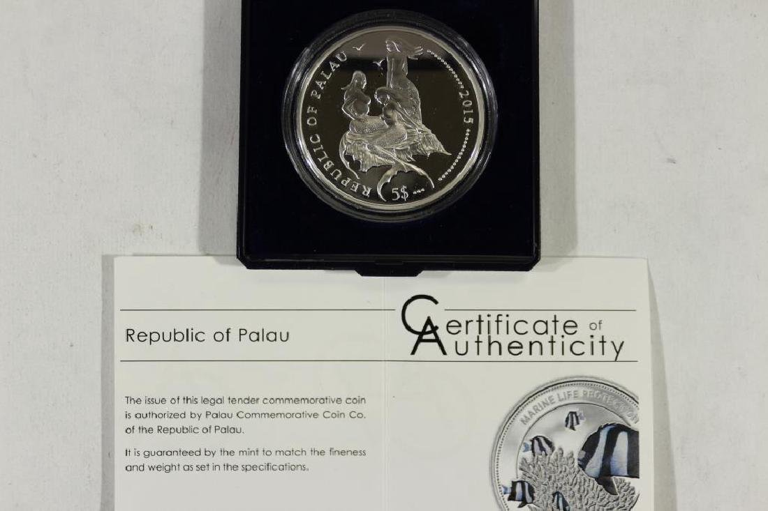 2015 PALAU SILVER PROOF COIN SEE DESCRIPTION - 2