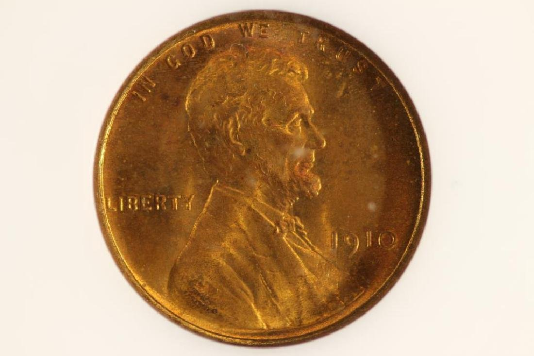 1910 LINCOLN CENT MS RED