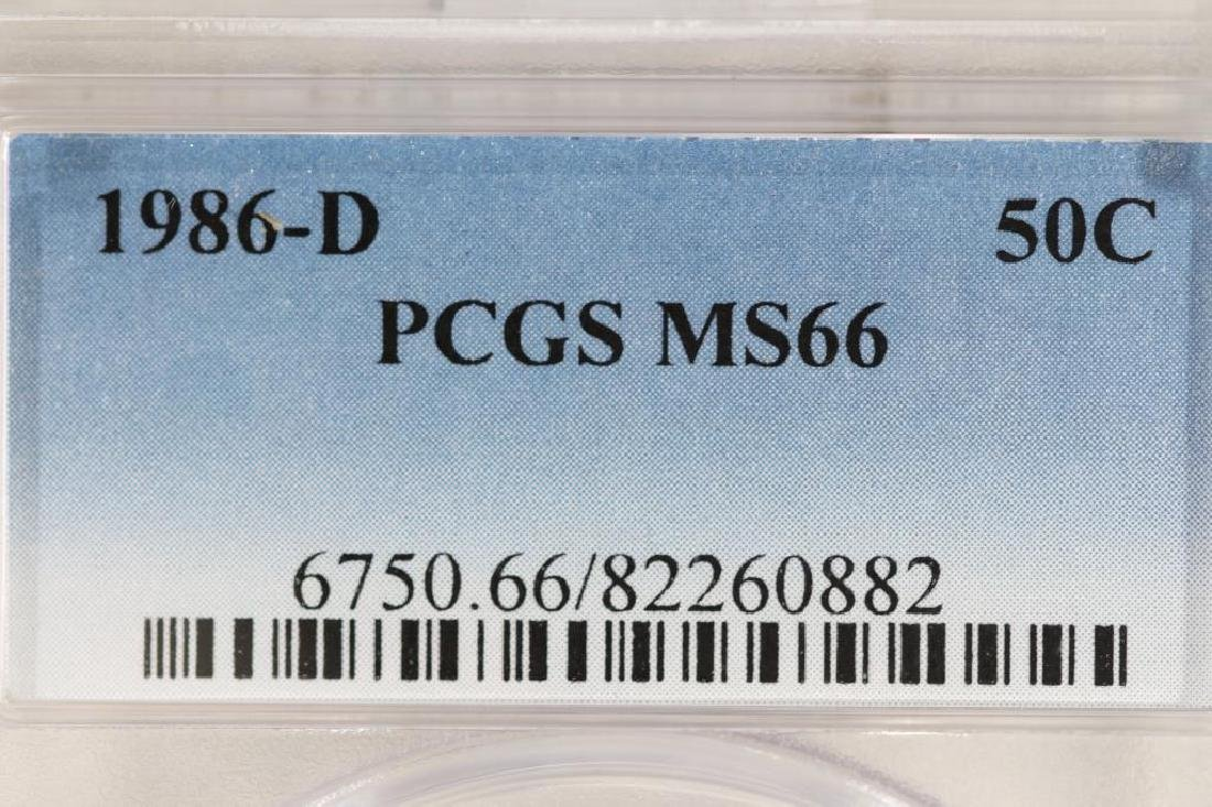 1986-D KENNEDY HALF DOLLAR PCGS MS66 - 3