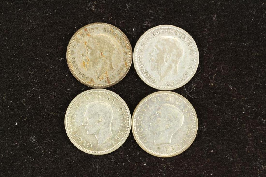 1931,32,38 & 40 GREAT BRITAIN SILVER 3 PENCE - 2