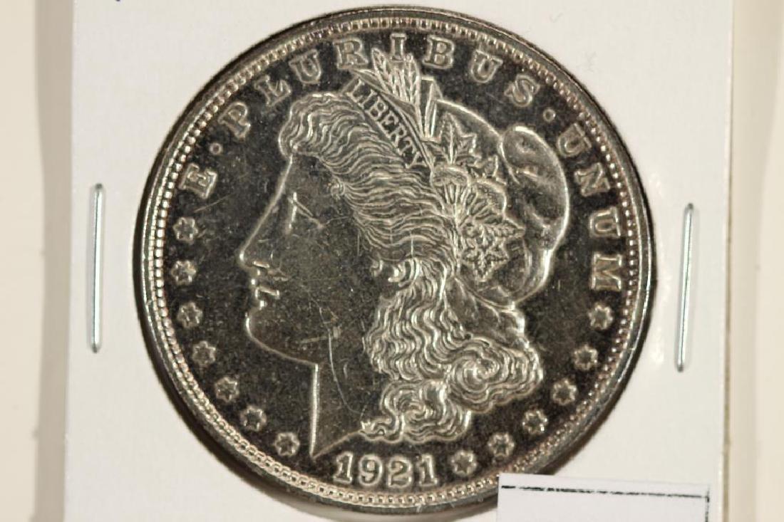 1921-D MORGAN SILVER DOLLAR POLISHED
