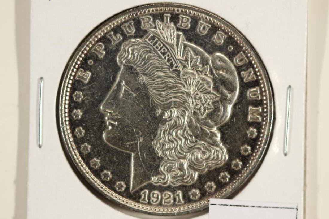 1921-D MORGAN SILVER DOLLAR POLISHED