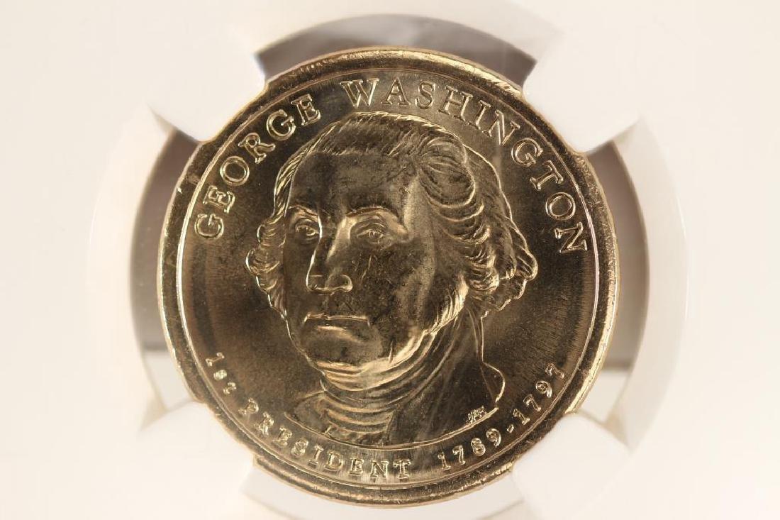 2007-D GEORGE WASHINGTON DOLLAR NGC BRILLIANT UNC
