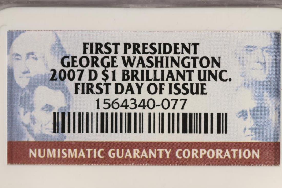2007-D GEORGE WASHINGTON DOLLAR NGC BRILLIANT UNC - 3