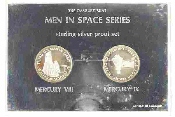2-STERLING SILVER PROOF ROUNDS MEN IN SPACE