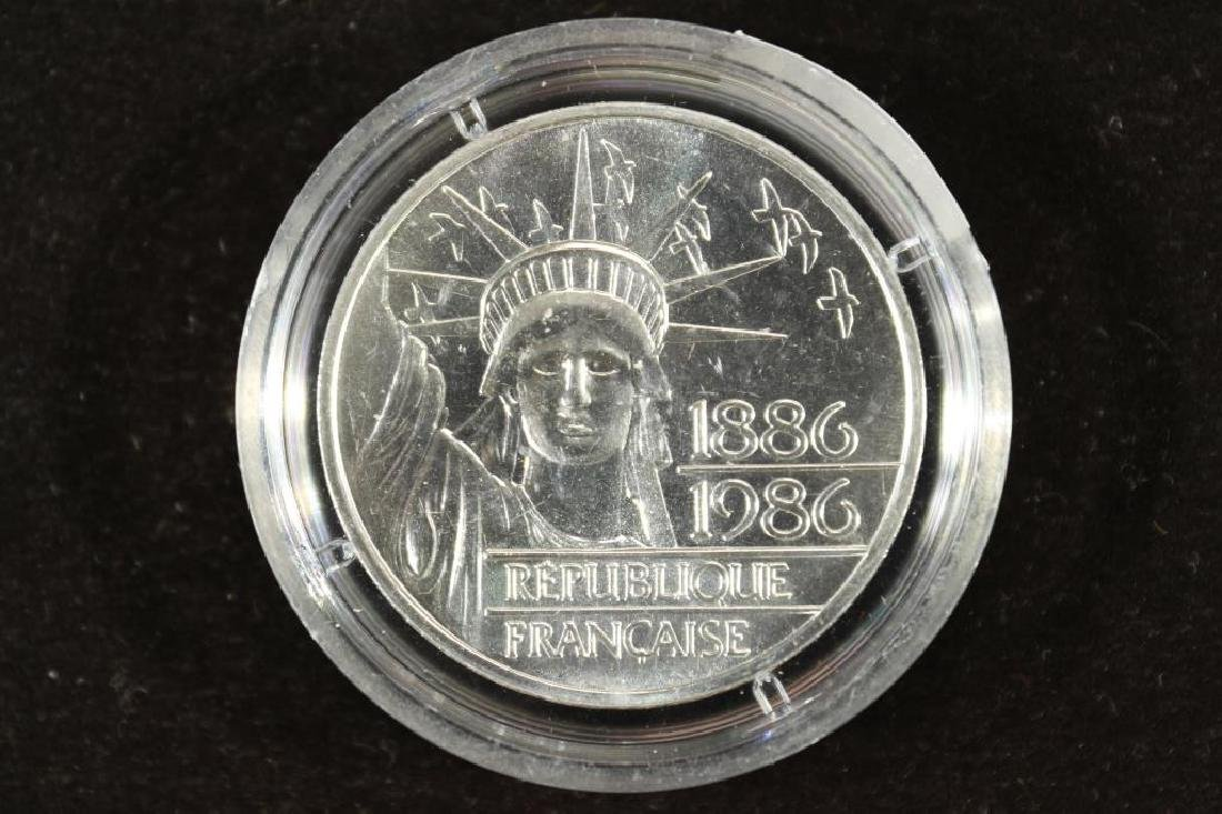 1986 FRANCE 100 FRANC SILVER PROOF PIEDFORT