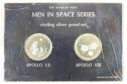 2 STERLING SILVER PROOF MEN IS SPACE ROUNDS