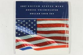 2007 US MINT ANNUAL UNC DOLLAR COIN SET