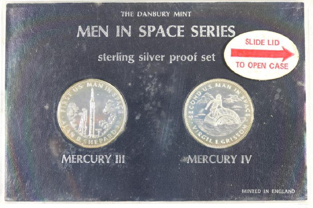 MEN IN SPACE SERIES 2 COIN STERLING SILVER PF SET