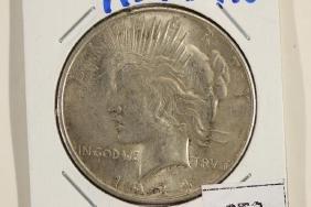 1934-D PEACE SILVER DOLLAR AU