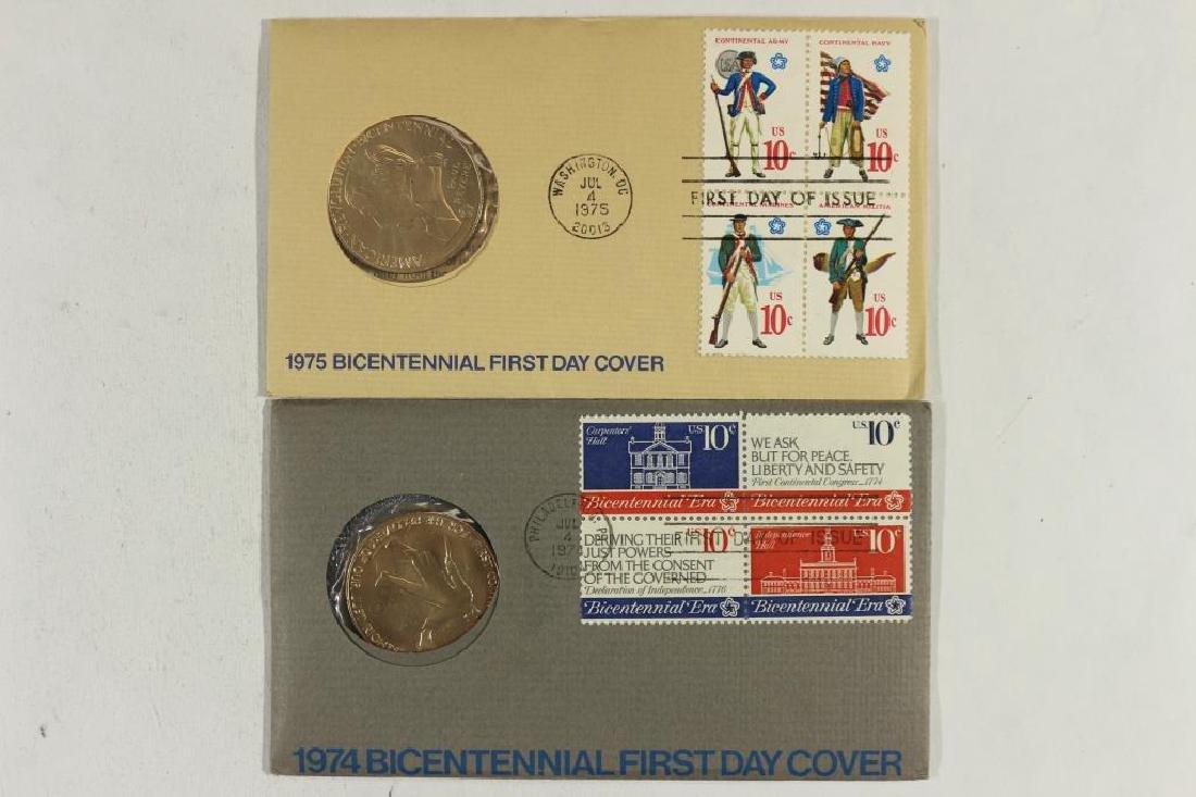 1974 & 1975 US MINT BICENTENNIAL FDC'S