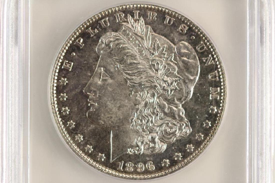 1896 MORGAN SILVER DOLLAR ICG MS64 PL