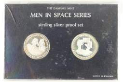 2 STERLING SILVER PROOF TOKENS THE DANBURY MINT