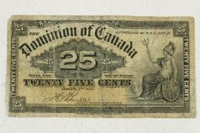 1900 DOMINION OF CANADA 25 CENT FRACTIONAL