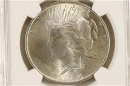 1925 PEACE SILVER DOLLAR NGC MS63