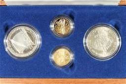 1987 GOLD & SILVER US CONSTITUTION MAHOGANY