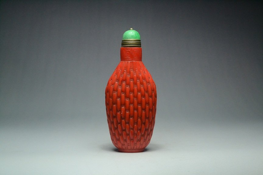 Ancient Chinese glass snuff bottle - Aug 23, 2015 | Pegasus Auction