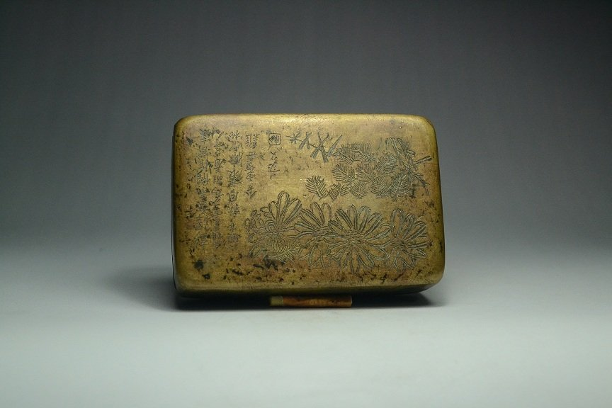 Chinese ancient copper box