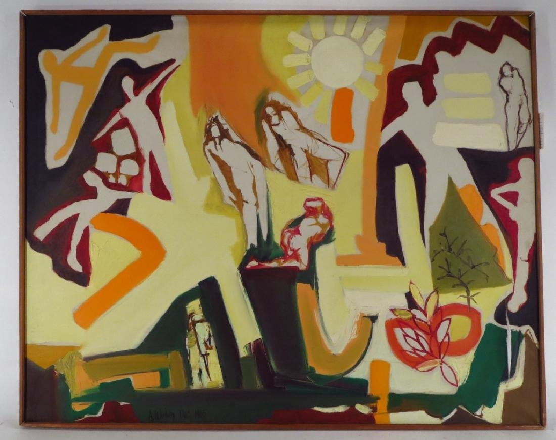 Arnold Weber, Am., 1931-2010. Figures Under Sun - 2