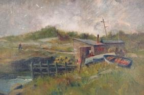 "G. Condon, ""Lobsterman's Wharf"", O/B, Signed."