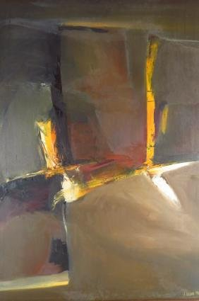 Arnold Weber, American, 1931-2010, Orange Vertical