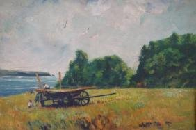 """G. Condon, """"Meadow by the Sea"""", O/B, Signed"""