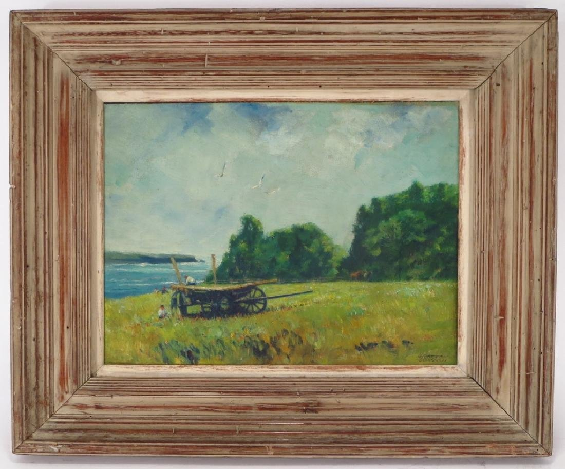 "G. Condon, ""Meadow by the Sea"", O/B, Signed - 2"