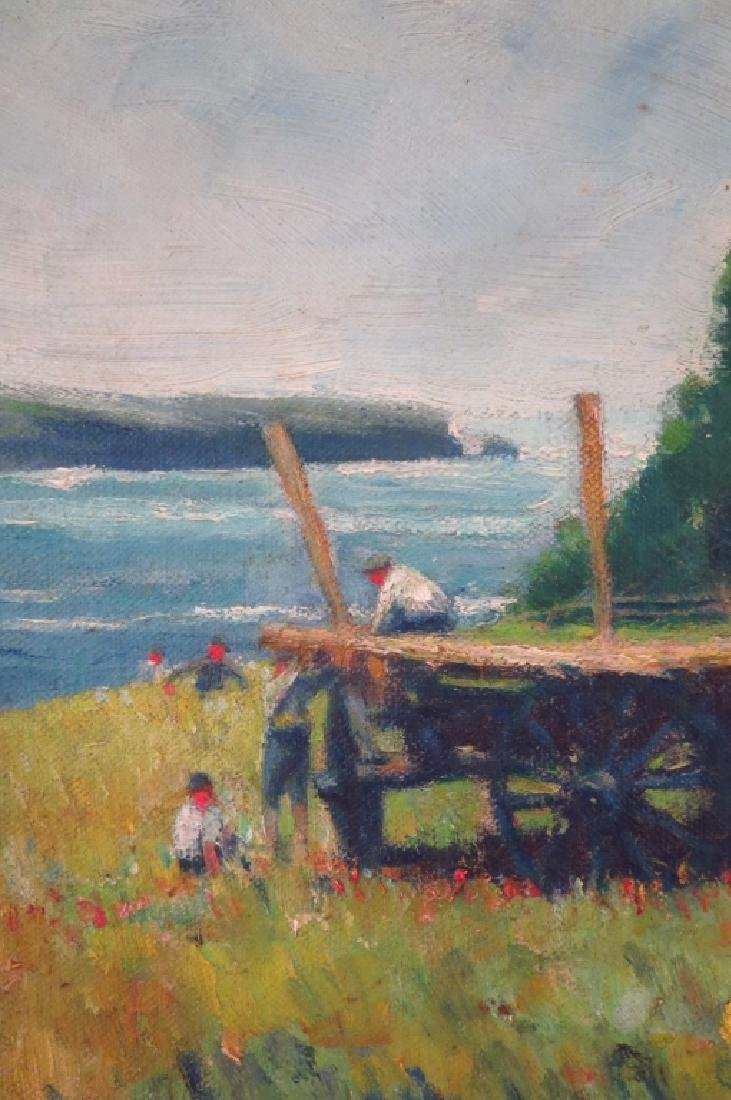 "G. Condon, ""Meadow by the Sea"", O/B, Signed - 3"