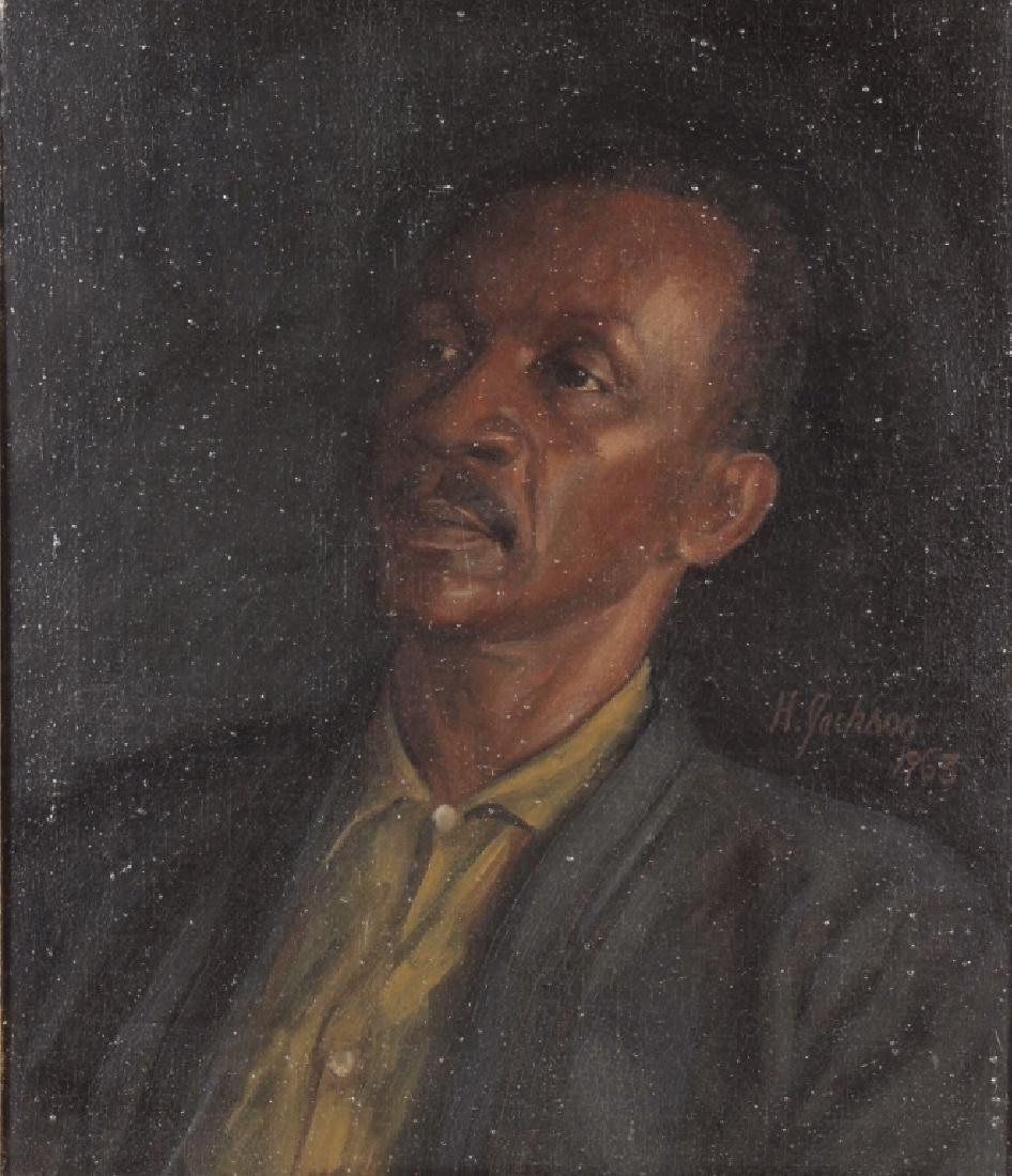 Harry jackson, 1924-2011, Portrait of Frank Lamb