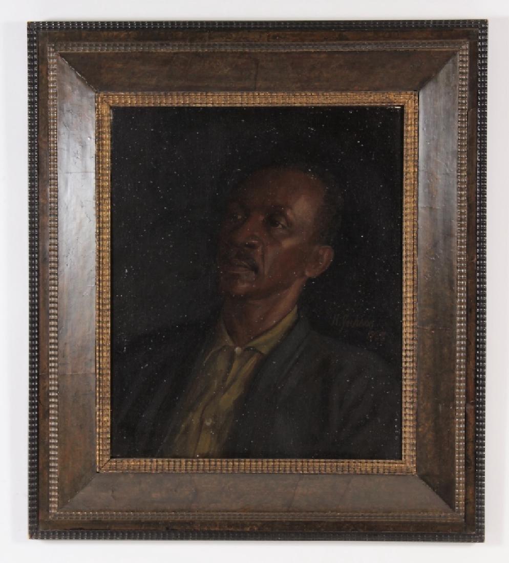 Harry jackson, 1924-2011, Portrait of Frank Lamb - 2