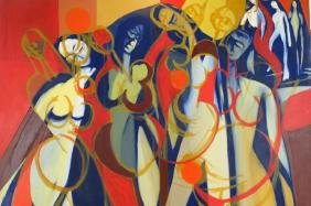 Arnold Weber, Am., 1931-2010, Female Figures