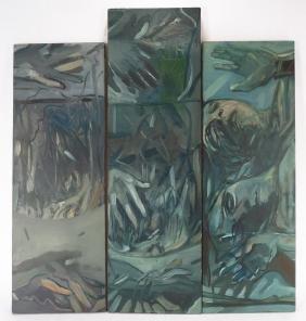 American School, 1983, Expressionist Triptych