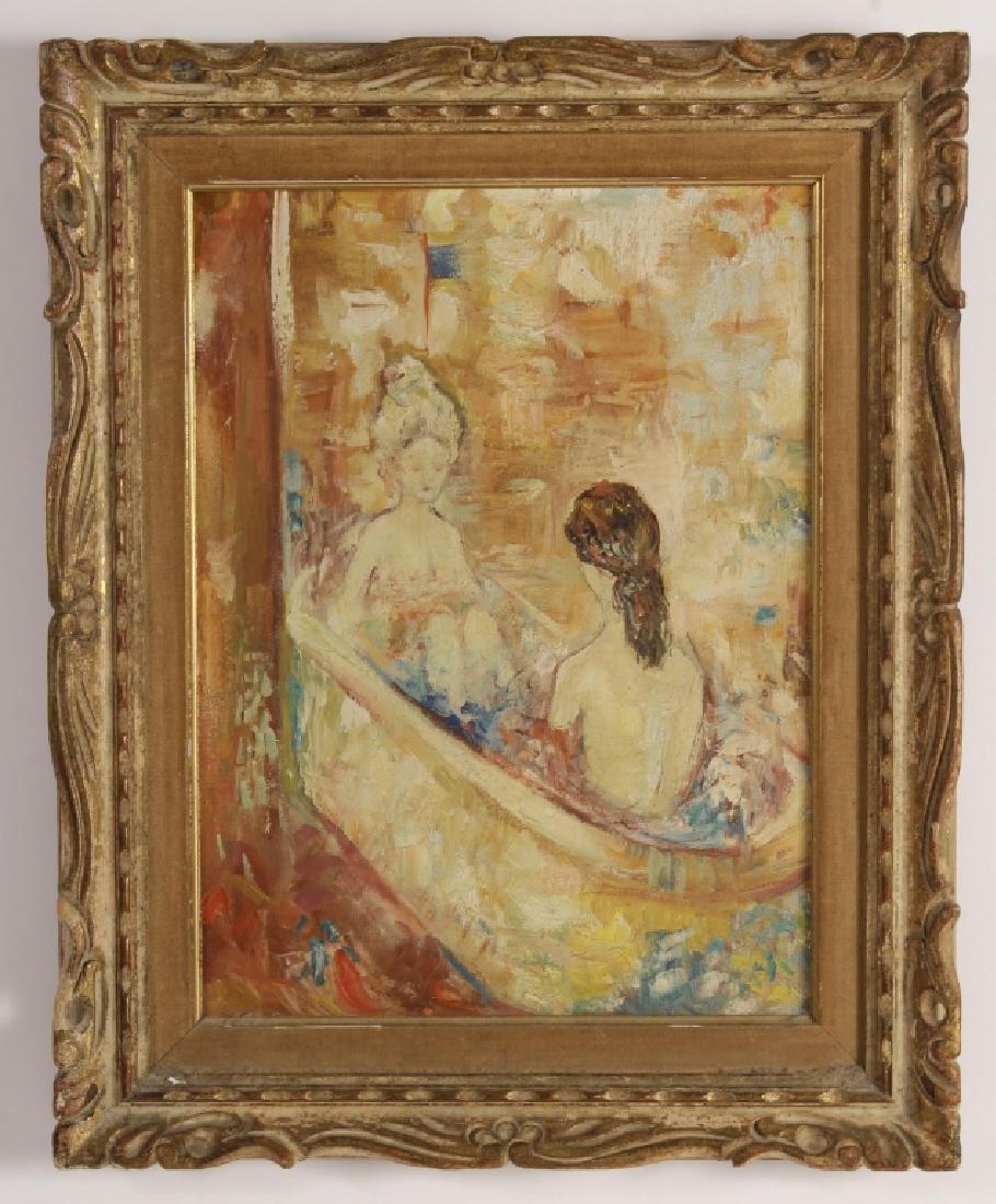 Am. Sch., 20th c., Nudes in Bath, O/C - 2