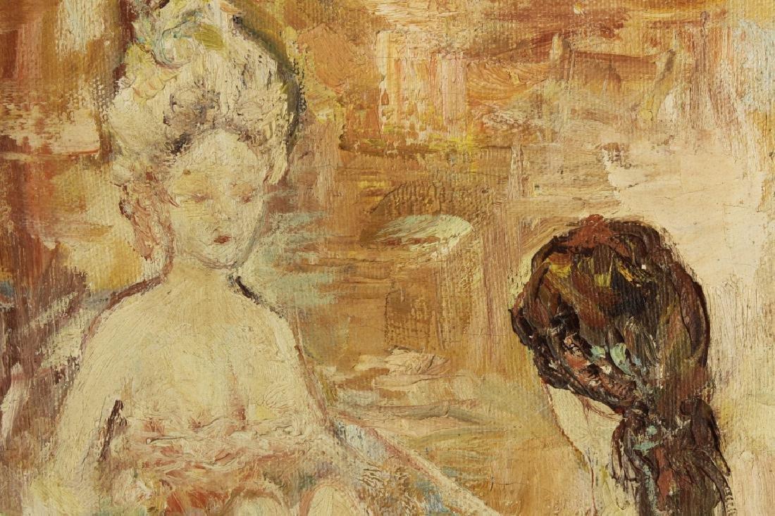 Am. Sch., 20th c., Nudes in Bath, O/C - 3