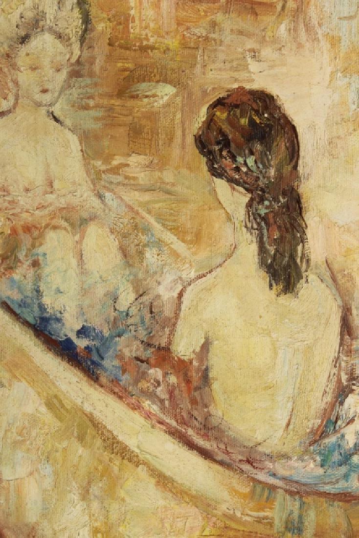 Am. Sch., 20th c., Nudes in Bath, O/C - 4