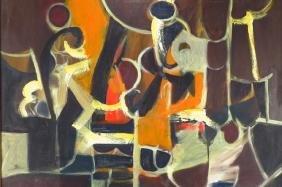 Arnold Weber, Am., 1931-2010, Red/Orange