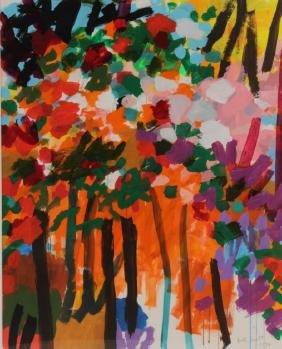 Bill Scott, Am., b.1956,Untitled (Abstract Floral)