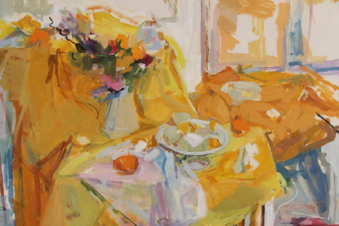 Joren Lindholm,,Am.,20th C., Still Life,o/c,signed