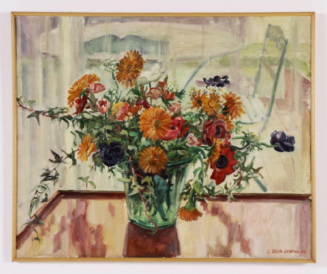 Josep Serra Llimona, Sp., b.1937, Floral Vase, O/C