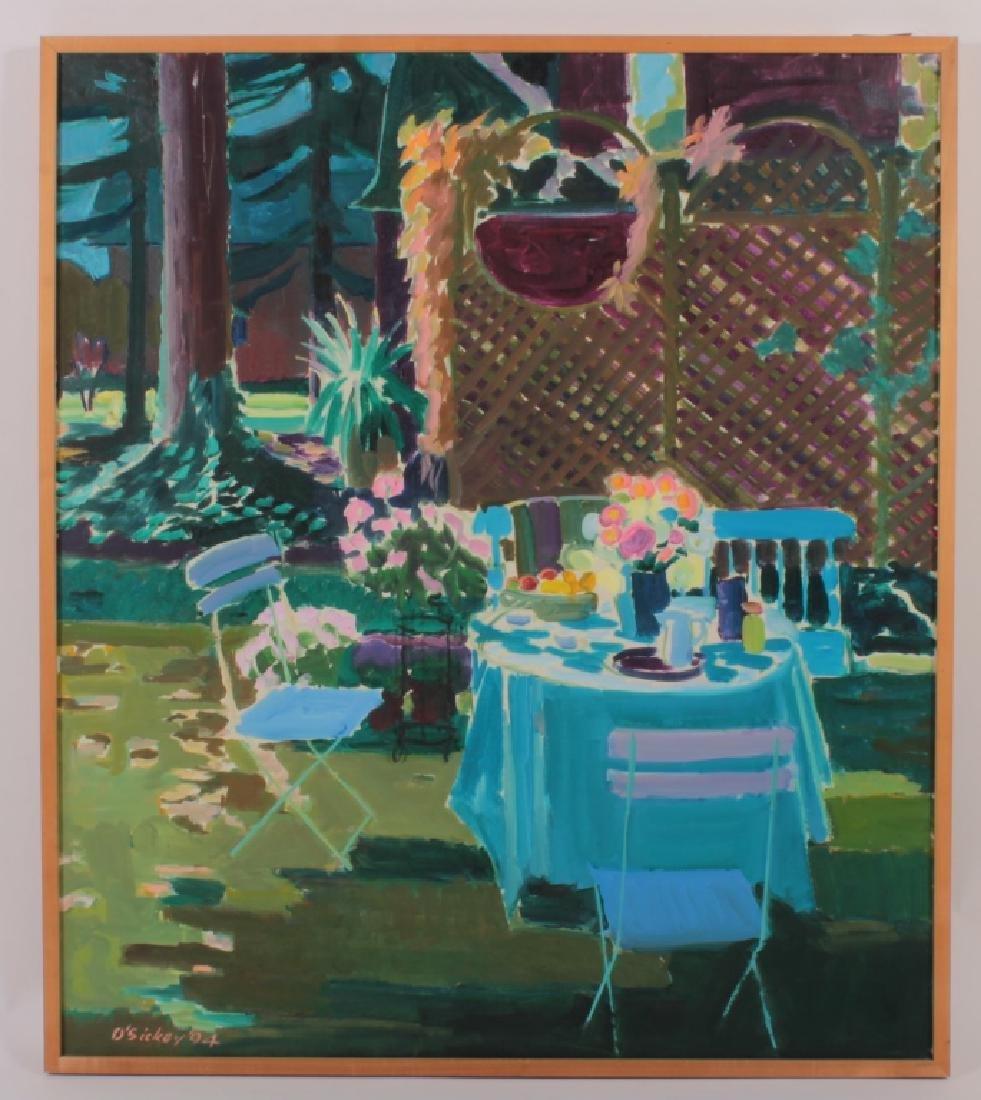 Joseph O'Sickey, Am.,Table,Trellis Blue Cloth,o/c - 2