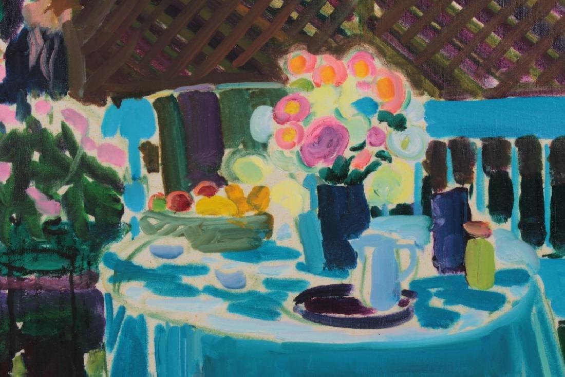 Joseph O'Sickey, Am.,Table,Trellis Blue Cloth,o/c - 3