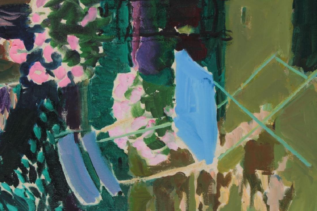 Joseph O'Sickey, Am.,Table,Trellis Blue Cloth,o/c - 4