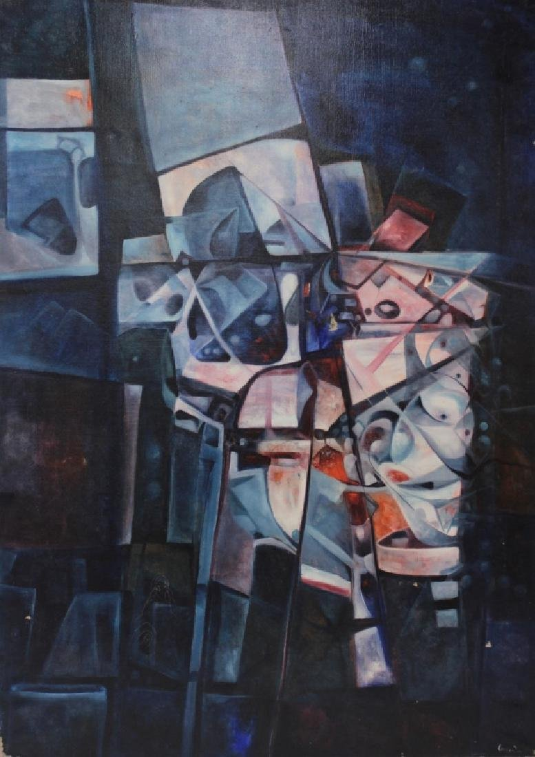 Manuel Coronado, 20th C., Abstract Shapes, O/C