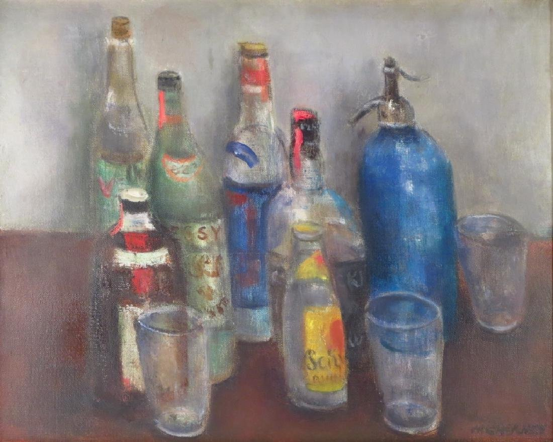 Marvin Cherney, 1920-1967, Still Life with Bottles