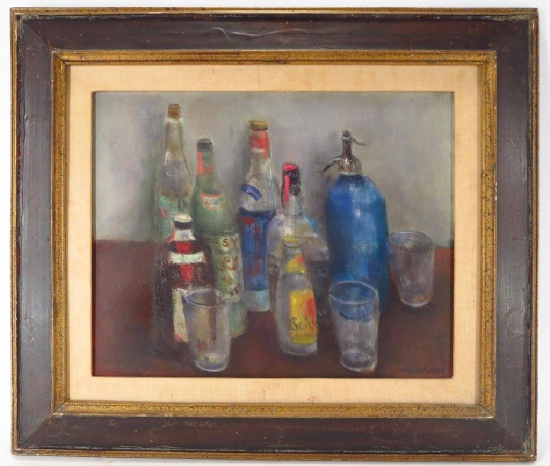 Marvin Cherney, 1920-1967, Still Life with Bottles - 2