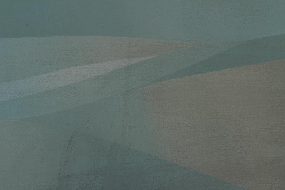 Jim Bird, 20th C., Abstract in Pale Blue/Green, - 3