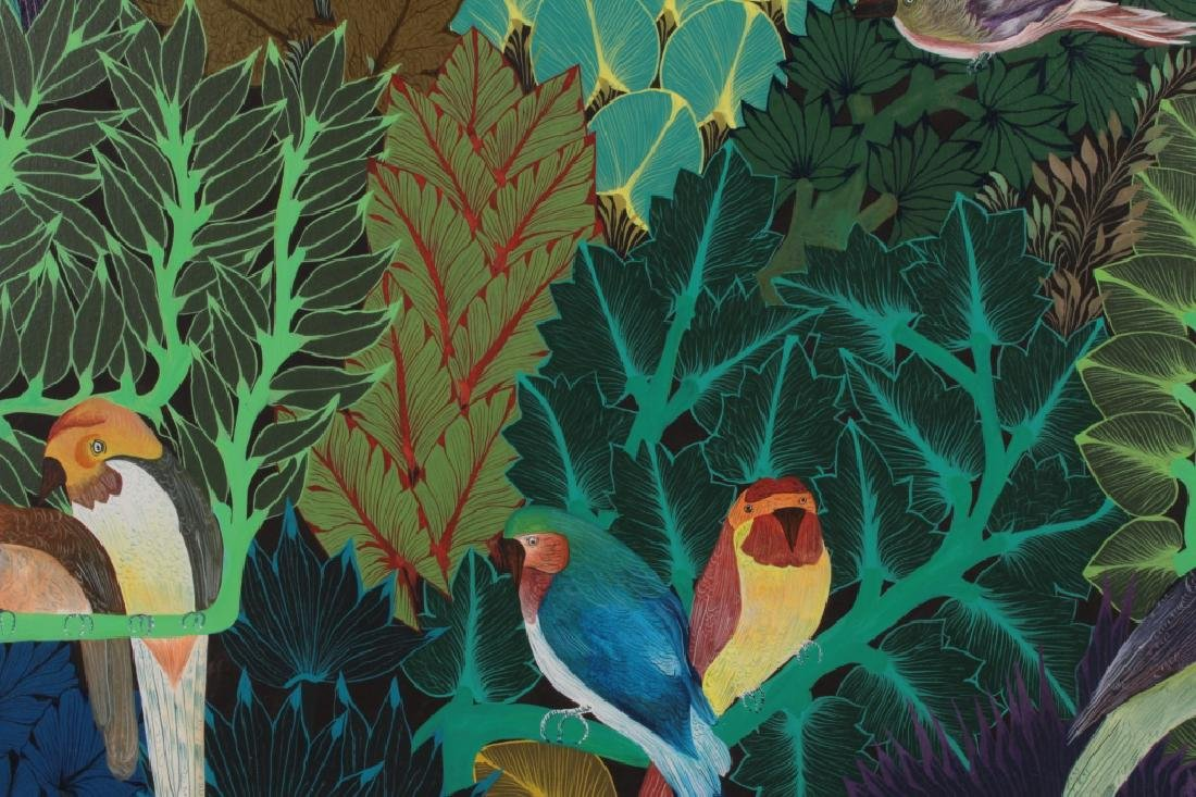 Pair of Haitian Paintings, Tropical Scenes, O/C. - 2