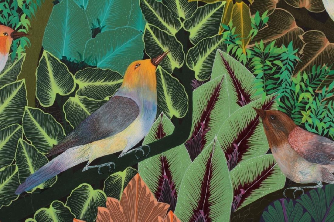 Pair of Haitian Paintings, Tropical Scenes, O/C. - 4