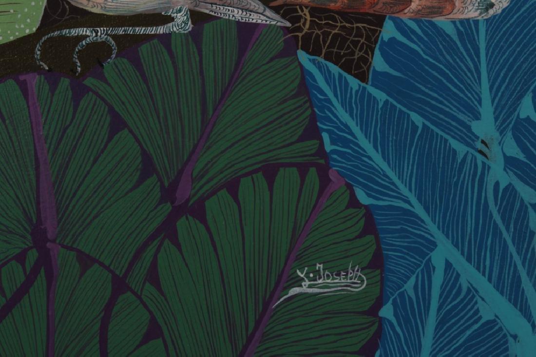 Pair of Haitian Paintings, Tropical Scenes, O/C. - 5